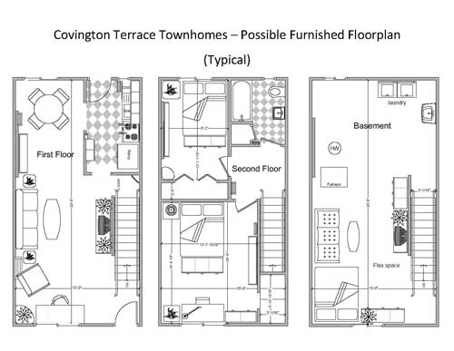 2 Bedroom Townhouse 2D Floorplan